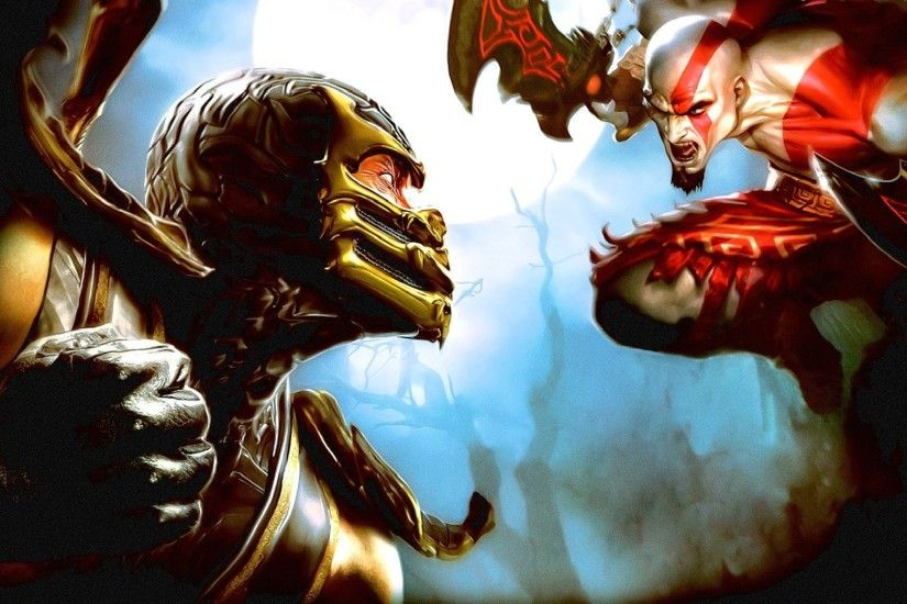 Wallpaper Mortal kombat, God of war, Fist, Fighter, Sword, Bald, Scream HD,  Picture, Image