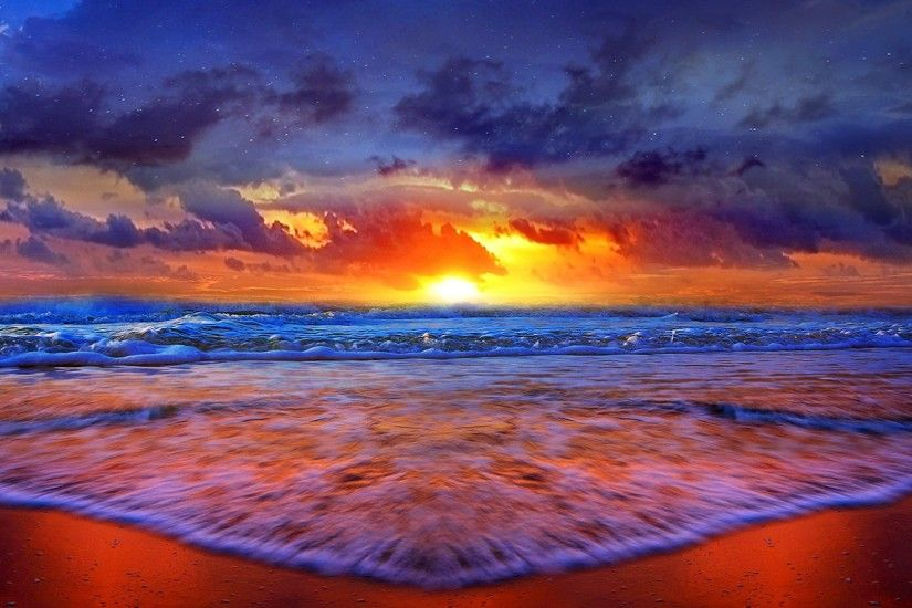 beach sunset best hd wallpaper