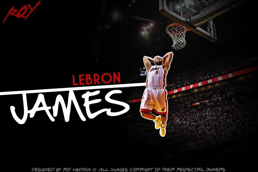 Lebron James Dunk Heat Wallpaper