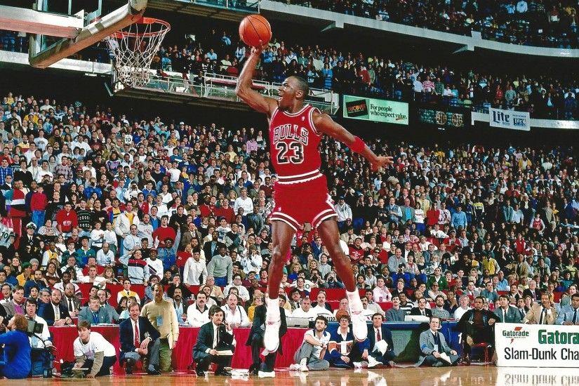 Michael Jordan Dunks From The Free Throw Line
