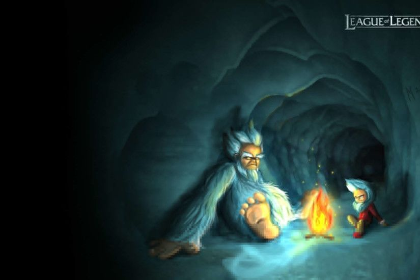 Wallpapers Nasus League Of Legends Nunu Hiding In Cave Game With 1920x1080  | #137004 #nasus league of legends