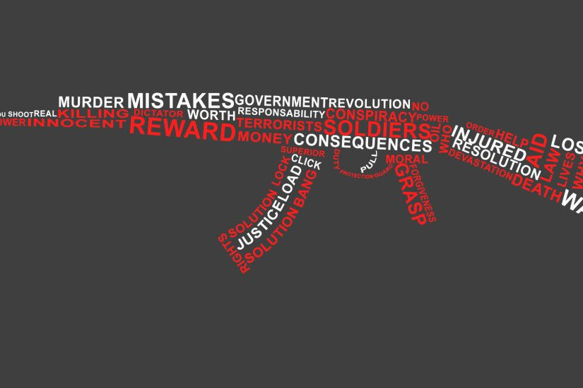 ... AK-47 Words Can Kill Wallpaper by jimbohutchings
