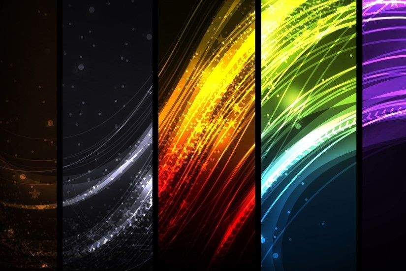 3840x2160 Wallpaper colorful, rays, lines, rectangles