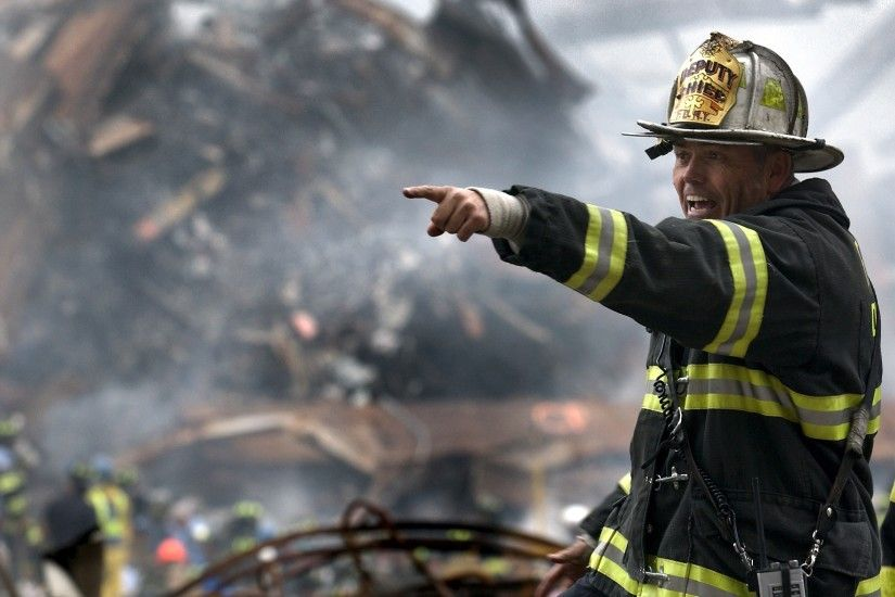 Deputy chief of the F.D.N.Y. among the rubble of the 9/11 disaster in New  York City september 11