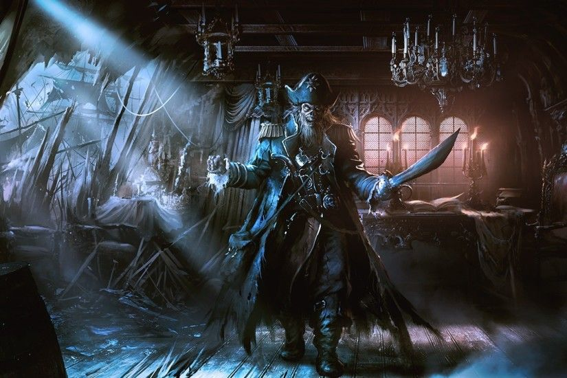 General 1920x1080 artwork fantasy art pirates dead ship ghost