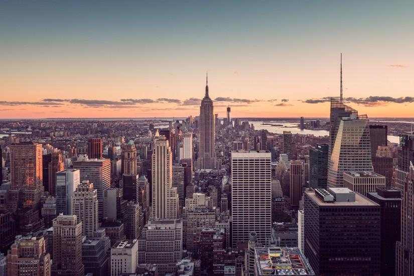 Sunset City New York Wallpaper Free Background Desktop Images 90123