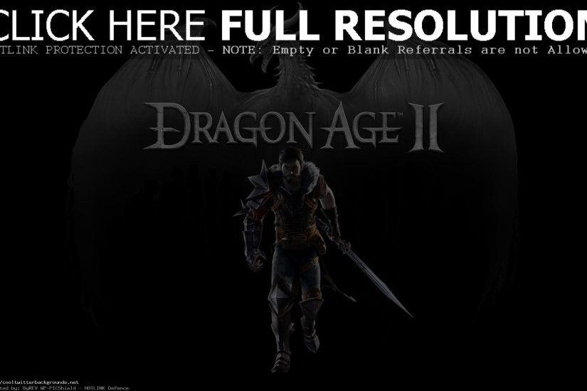 Dragon Age 2 Grey Dragon Logo Background Warlord Sword video Game Wallpaper