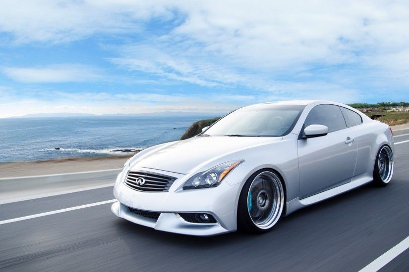 3840x2160 Wallpaper infiniti, g37, coupe, side view, speed