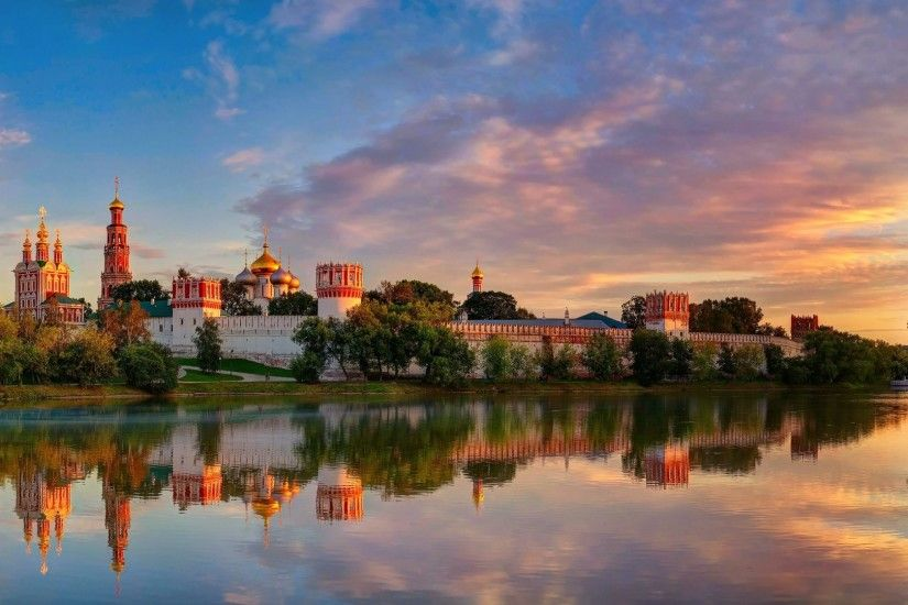 1920x1080 Wallpaper moscow, novodevichy convent mother of god of smolensk,  summer