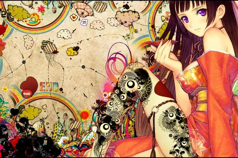 Anime Girl Japanese Tattoo Wallpaper, Size: 1920x1080 | AmazingPict.com -  HD Wallpapers