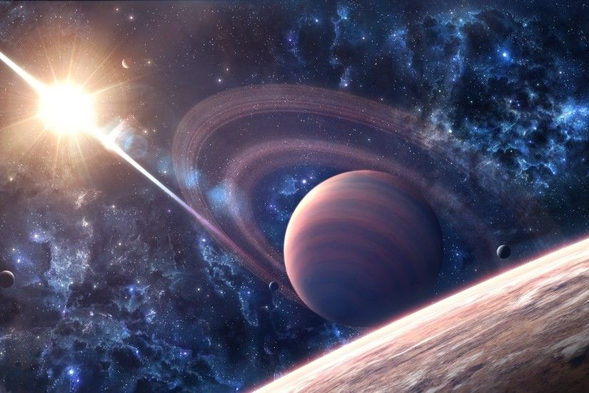 ... Background Full HD 1080p. 1920x1080 Wallpaper space, galaxy, saturn,  planet