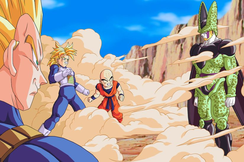 Anime Dragon Ball Z Cell (Dragon Ball) Trunks (Dragon Ball) Krillin (