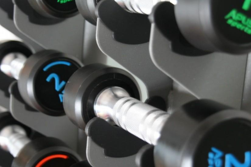 Preview wallpaper dumbbells, sports, gym 1920x1080