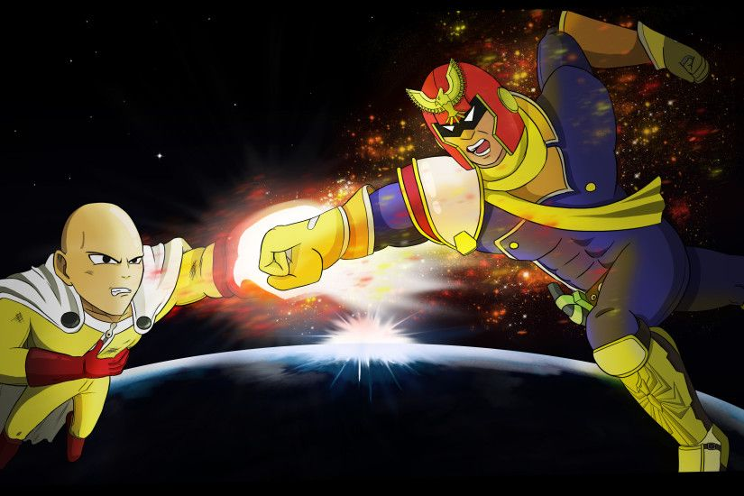 ... Captain Falcon vs Saitama by Leo-25