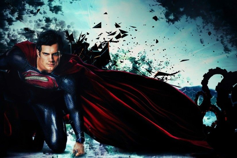 Superman Man Of Steel Wallpapers Wide