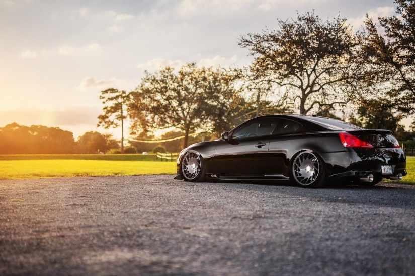 2239x1400 Wallpaper infiniti, g35, g37, black, nature, side view