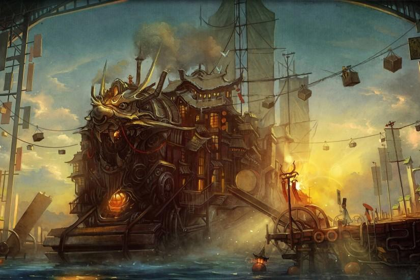 full size steampunk background 2560x1600