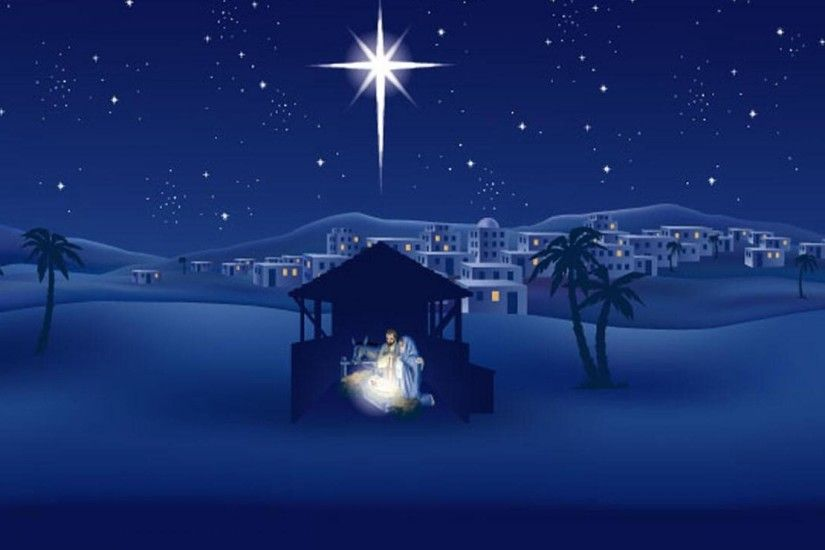 ... Outdoor Christmas Nativity Scene HD desktop wallpaper : Widescreen .