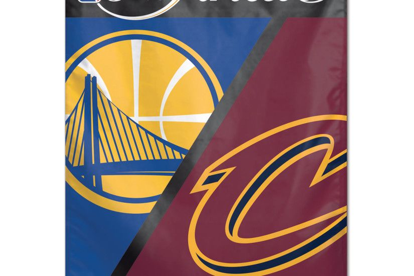 "WinCraft Cleveland Cavaliers vs. Golden State Warriors 2017 NBA Finals  Bound Dueling 28"" x"