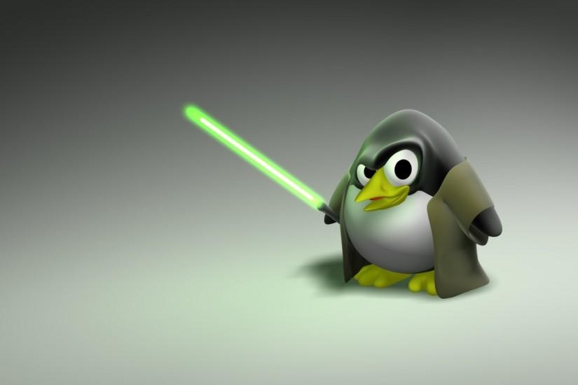 ... Linux Penguin - wallpaper.