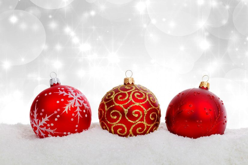three free christmas ball or bauble decoration