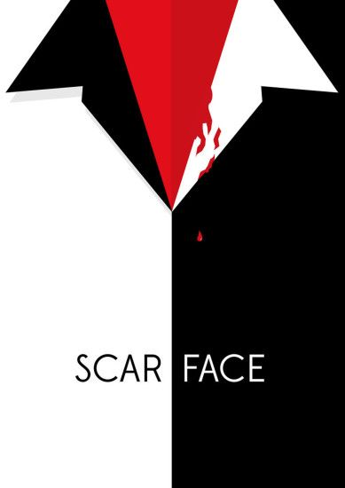Scarface Minimal Poster from Cyankart
