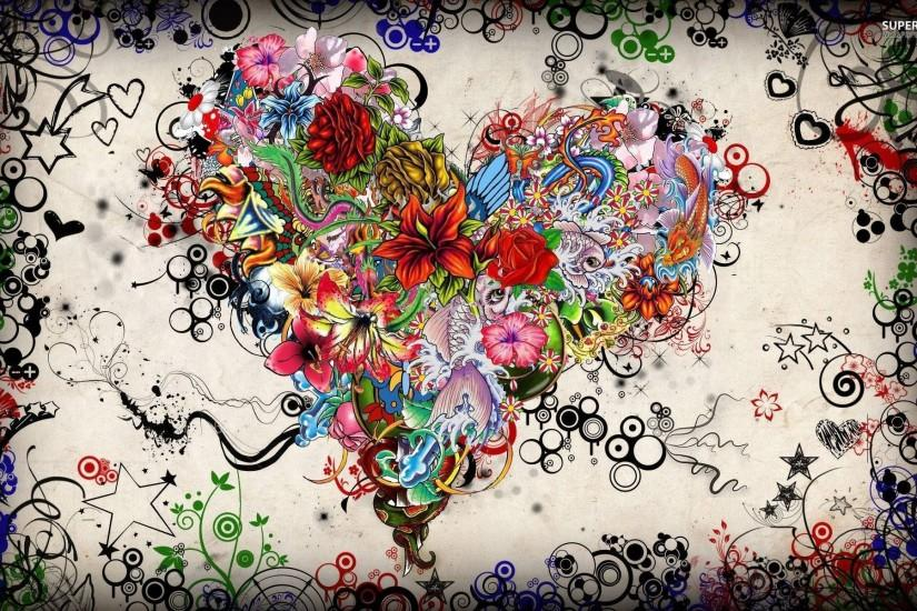 Tattoo heart wallpaper - Digital Art wallpapers - #