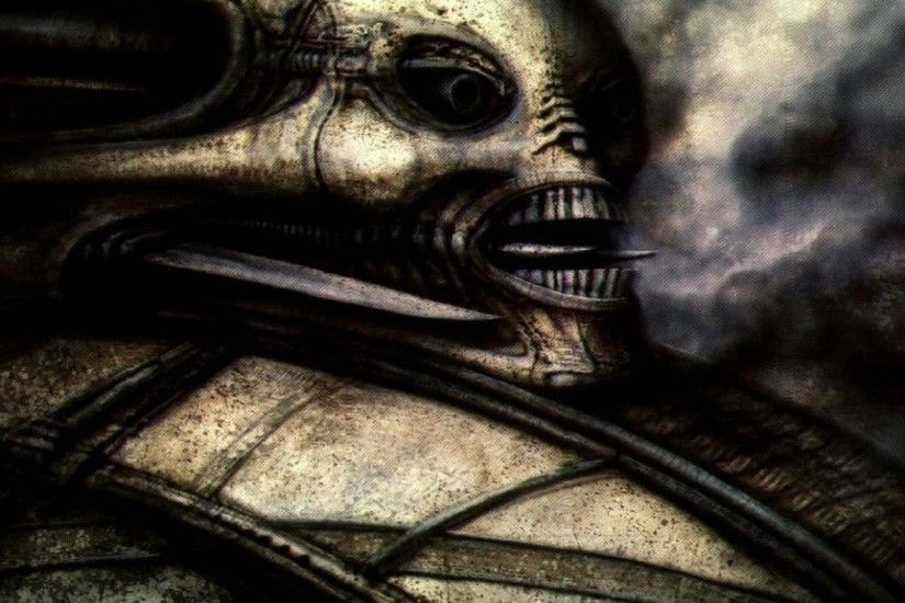 H R GIGER art artwork dark evil artistic horror fantasy sci-fi wallpaper |  2560x1440 | 695725 | WallpaperUP