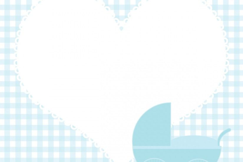 Baby Boy Heart Background