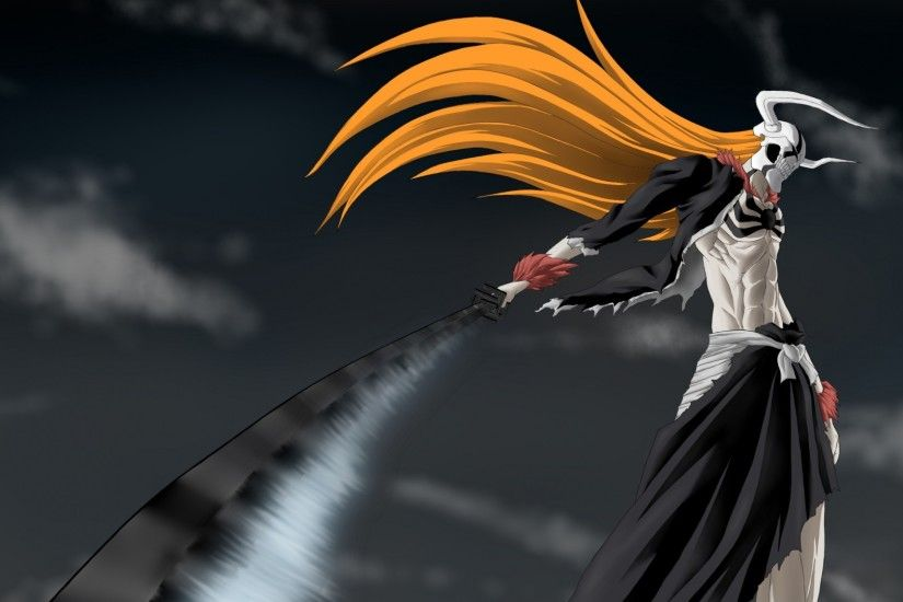 Preview wallpaper bleach, ichigo, sword, hollow, wave, weapons 1920x1080