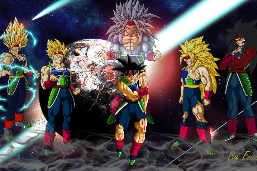 ... Bardock - The First Super Saiyan (Wallpaper) by eziocaval