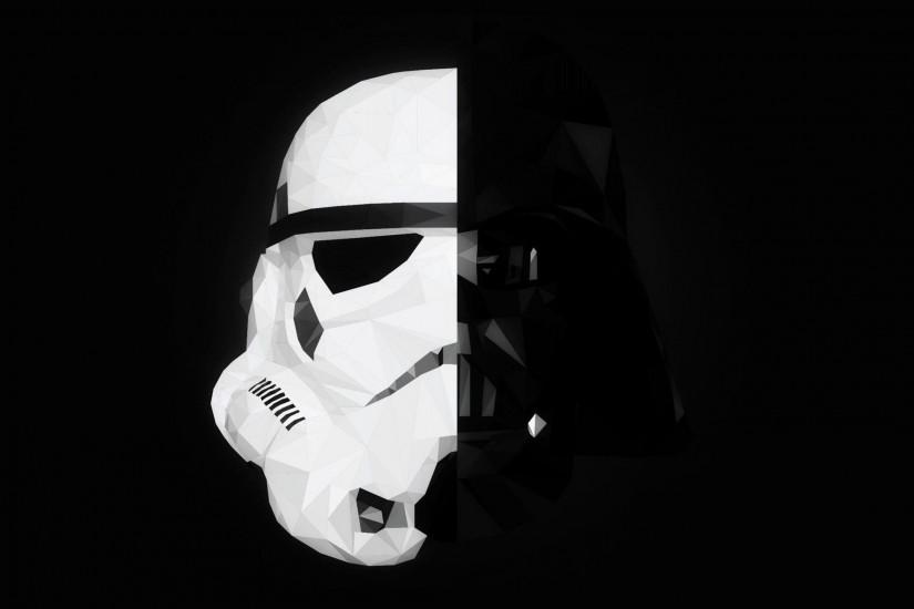 Star Wars, Stormtrooper, Darth Vader, Mask, Splitting, Minimalism