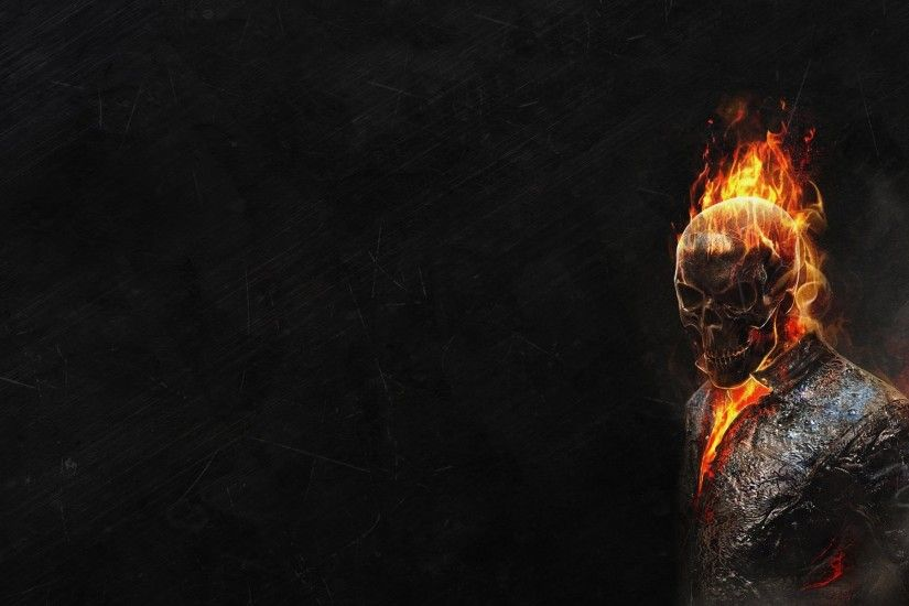 ghost rider ghost rider skeleton fire red dark background