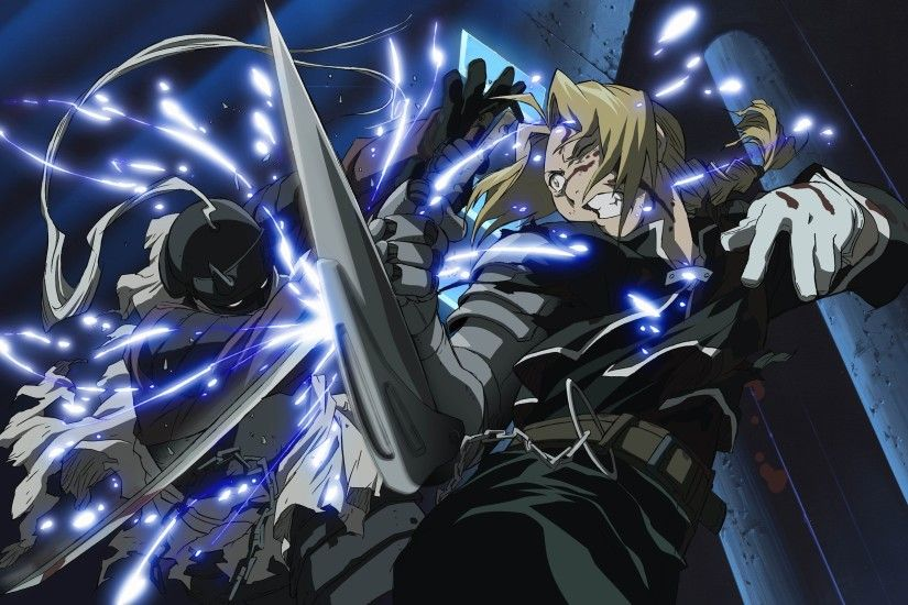 Fighting Fullmetal Alchemist Wallpaper.