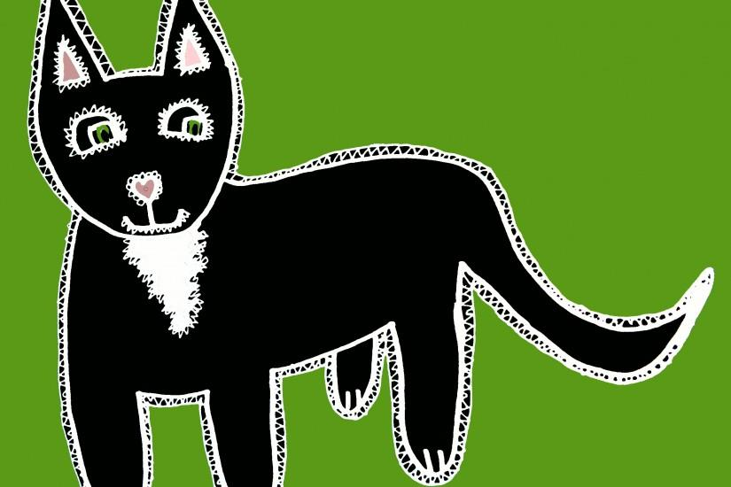 This guy works great on black background designs: (like the tote bag  linked). Black cats are my favorite because we had one growing up just like  this with a ...