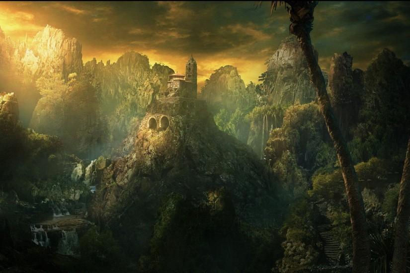 new fantasy landscape wallpaper 1920x1200 lockscreen