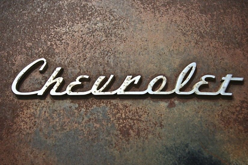 1920x1080 Wallpaper chevrolet, logo, rust