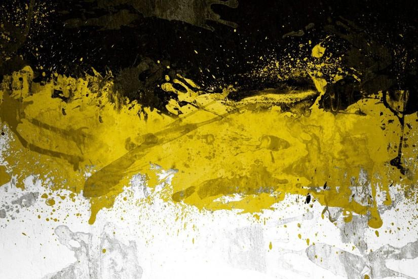Black and Yellow Abstract Wallpaper