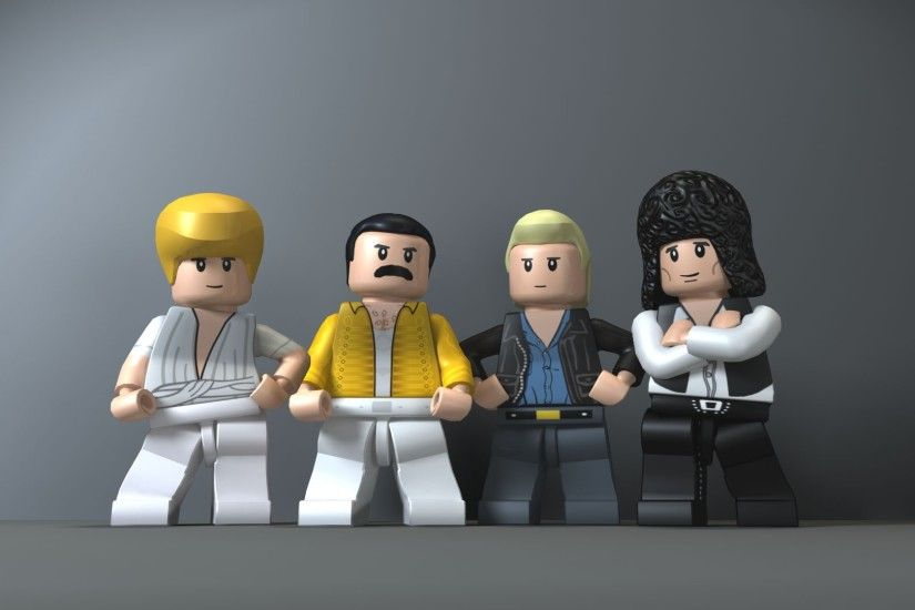 gray Background, Digital Art, LEGO, Queen, Musicians, Freddie Mercury,  Brian May, John Deacon, Roger Taylor, Figurines, Legend Wallpapers HD /  Desktop and ...