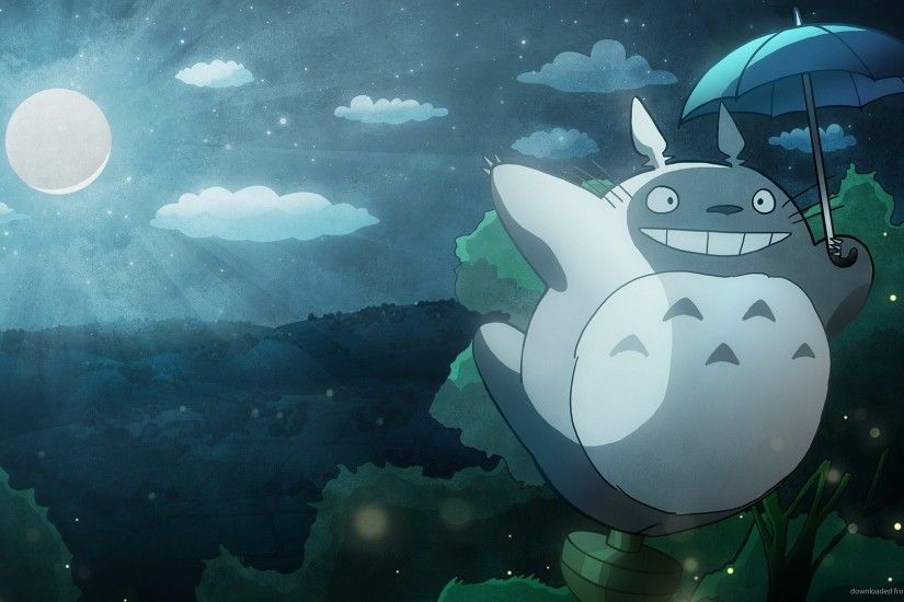 HD My Neighbor Totoro flight wallpaper