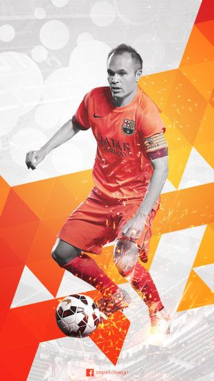 ... Andres Iniesta Wallpaper Design (For Mobiles) by tcepel