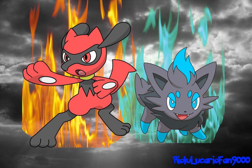 ... RioluLucarioFan9000 God Riolu and God Zorua wallpaper by  RioluLucarioFan9000