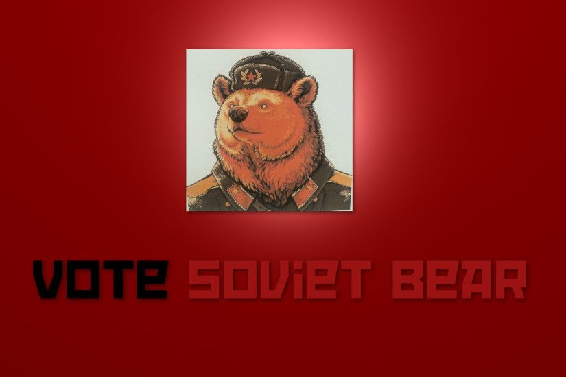 My attempt at a Soviet Bear wallpaper. (1920x1080)