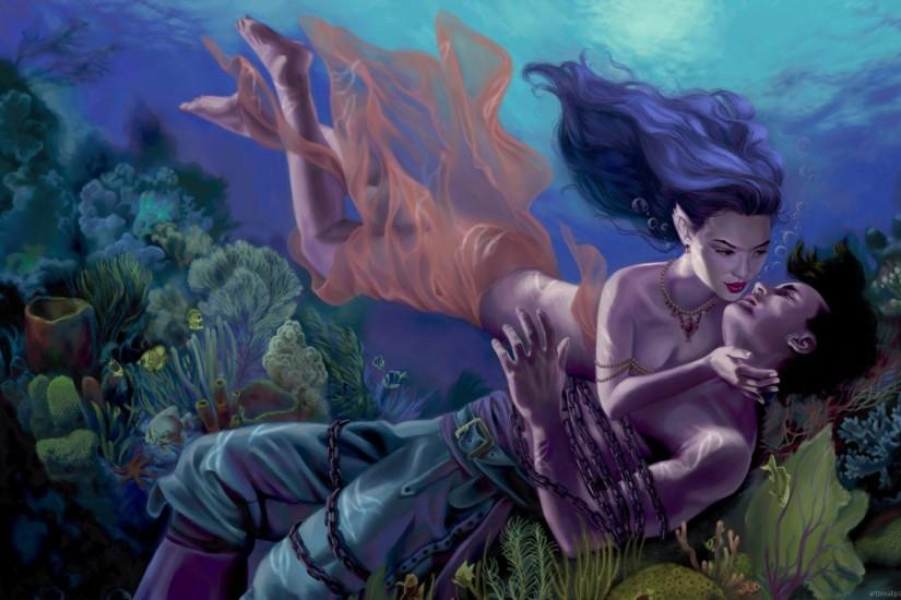 download free mermaid wallpaper 1920x1200 for tablet