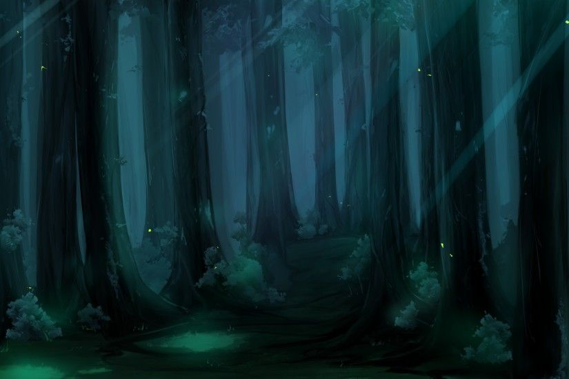 Cartoons trees forest woods artwork wallpaper | 2560x1600 | 11161 .