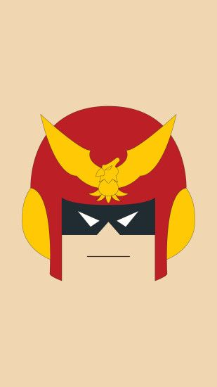 captain falcon nintendo minimalist wallpaper