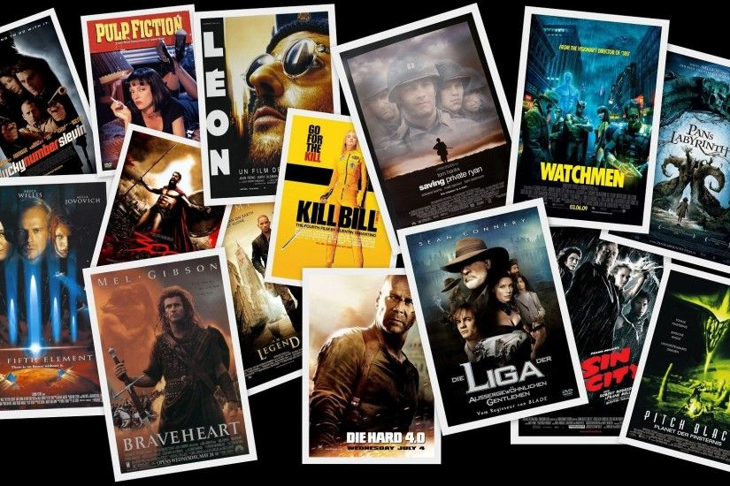 Movies digital art collage movie posters fan art wallpaper | 1920x1080 |  205901 | WallpaperUP