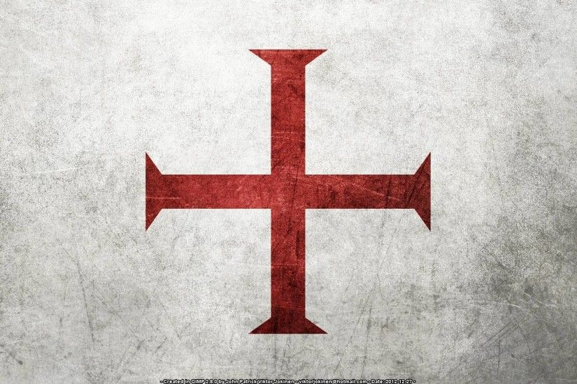 1920x1080 Flag of the Knights Templar (Several Resolutions) by .