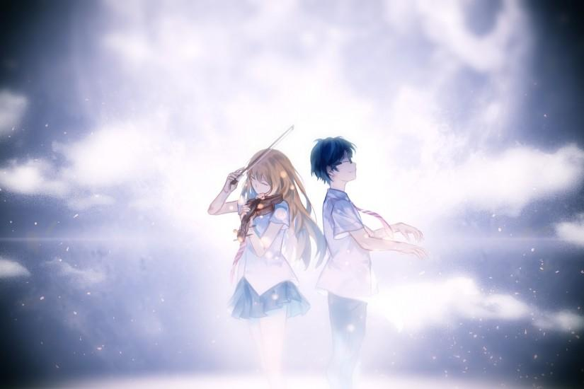 your lie in april wallpaper 1920x1080 for tablet