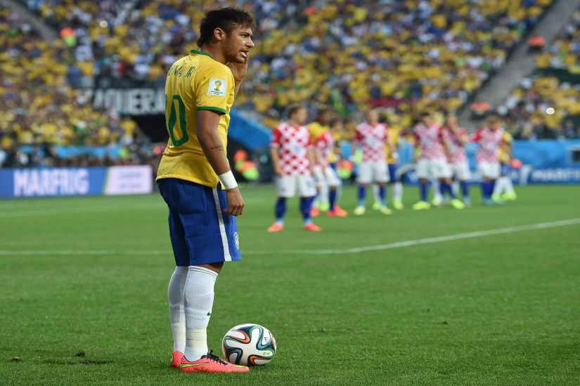 Neymar free kick Ultra HD 4K Wallpapers